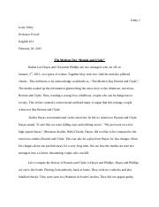Bonnie and Clyde Essay.doc