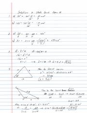 Exam II Review Solutions