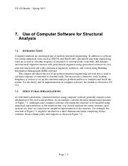 07 Use of Computer Software for Structural Analysis