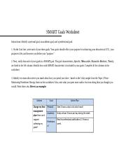 Unv 103 week 6 goal setting activity 14 smart goals worksheet 4 pages smart goals worksheetcx ibookread PDF