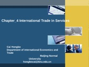 Chapter_4 International Trade in Services