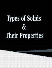 NOTE Types of Solids (1)