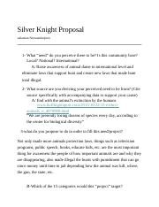 Silver Knight Proposal