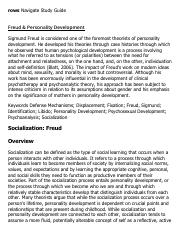 Freud & Personality Development Research Paper Starter - eNotes