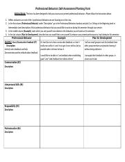 Professional Behaviors Self Assess Plan Form 2017.doc