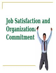 PSYC 3680 Job Satisfaction and Organization Commitment