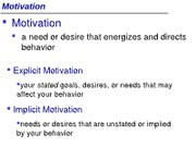 IVC Psyc 1 Summer 12 MW Lecture 9 (Motivation & Emotions)