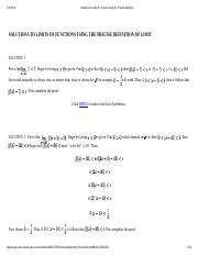 Solutions to Limits of Functions Using the Precise Definition.pdf