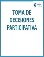 6.1 Generacion de ideas, toma de decisiones