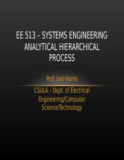 EE 513 - AHP Process - Revised.ppt