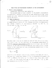 EAS 217 Ganguly Heat Flow Notes