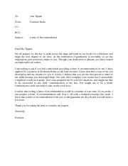 Letter of recommendation assignment