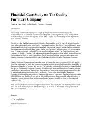Financial Case Study on The Quality Furniture Company.docx