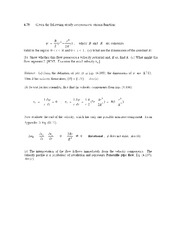 Velocity Potential and Stream Function Problem Set