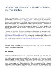 claxton-africas-contributions-to-world-civilization