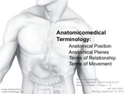 1 - Anatomicomedical Terminology