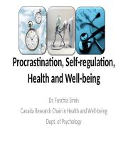 Procrastination, Self-regulation, Health and Well-being.pptx