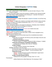 CulturalGeographyCH.6Notes
