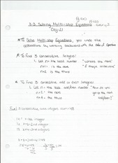 3-3 Solving Multi-Step Equations Notes