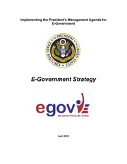 Implementing the President's Management Agenda for E-governm