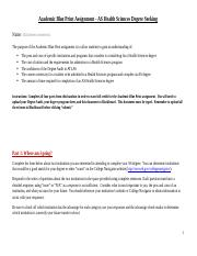 Academic Blue Print Assignment - AS Health Sciences Degree Seeking.docx