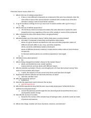 Chemistry honors review sheet ch 3