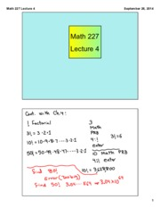 Math 227 Lecture 4
