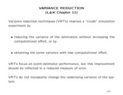 Variance Reduction Technique