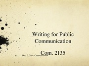 XWriting for Public Communication120214
