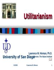 Hinman-Utilitarianism.ppt