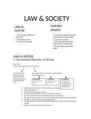 Law and Justice - Human Rights.doc