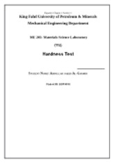 hardness test cover page