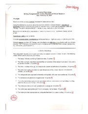 Writing Assignment 2 Eval
