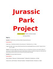 Jurassic Park Project update