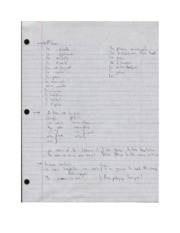 Ch. 3 notes - important places, verb 'to go', Exercises c-7,c-9, and 3-18 Answers