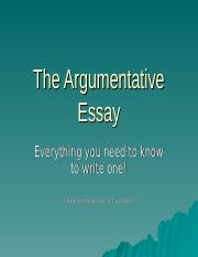 The_Argumentative_Essay.ppt