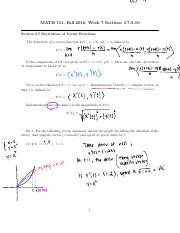 Derivative of Vector Functions and  Higher Deriv.