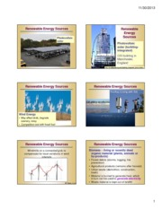 Lecture 25 - Renewable Energy Sources