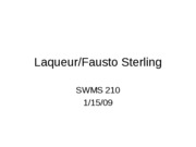 Laqueur_Fausto Sterling