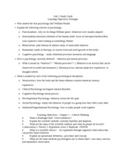 Unit 1 Study Guide psych