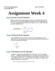 Assignment week 4