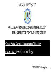 U-4 Cutting technology pdf - AKSUM UNIVERSITY COLLEGE OF ENGINEERING
