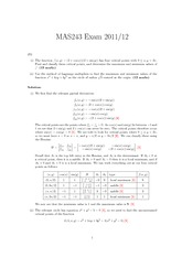 Exam Solutions 2012