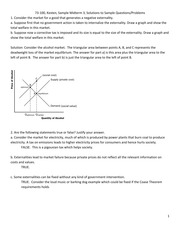 Sample Questions Solutions