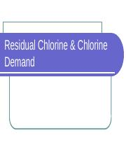 16 - Residual Chlorine and Chlorine Demand (1)