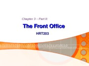 Chapter 3. The Front Office (Part Two) - BB