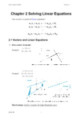 2009.09.25 Chapter2A Solving Linear Equations