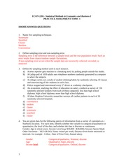 SOLUTIONS PRACTICE ASSIGNMENT TOPIC 1 WINTER 2015