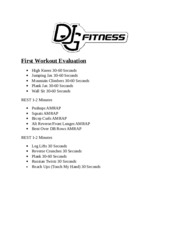 First Workout Evaluation