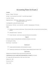 Accounting Notes for Exam 2 (chapters 4, 5, 7)